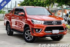 Toyota Hilux Revo Orange Automatic 2016 2.4L Diesel