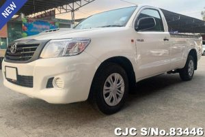 Toyota Hilux Vigo Champ White Manual 2014 2.5L Diesel